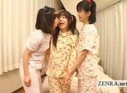 見るからに純粋そうな美少女3人のイチャラブレズプレイ