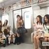 この乗客達全員レズなんです!そして1人の女性を集団レズ痴漢